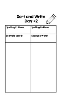 Word Work Packet for Sorts