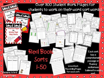 Word Work Pages for Words Their Way--RED Book BUNDLE {Letter Name Alphabetic}