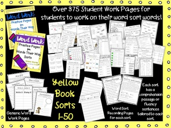 Word Work Pages for Words Their Way--YELLOW Book BUNDLE {Within Words}