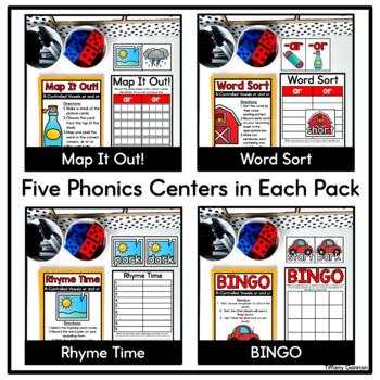 Word Work Phonics Activities GROWING BUNDLE