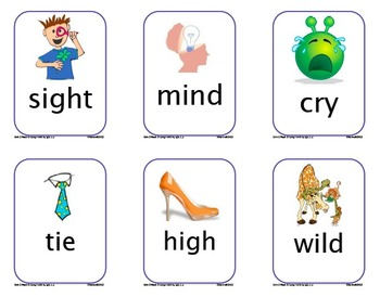 Word Work Picture Cards for Unit 2 Texas Treasures