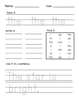 Word Work Practice