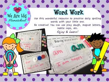 Word Work Practice FREE