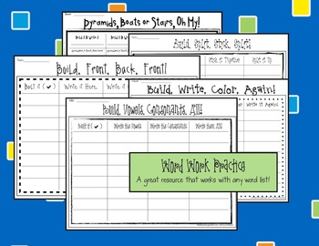 Word Work Practice Packet