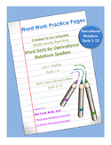 Word Work Practice Pages 2009 Words Their Way Derivational Relations Sorts 1-13