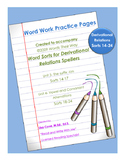 Word Work Practice Pages 2009 Words Their Way Derivational Relations Sorts 14-24