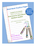 Word Work Practice Pages 2009 Words Their Way Derivational Relations Sorts 25-34