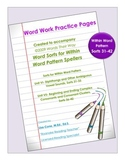 Word Work Practice Pages Words Their Way Within Word Patte