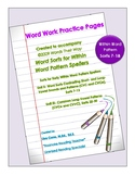 Word Work Practice Pages Words Their Way Within Word Pattern Sorts 7-18