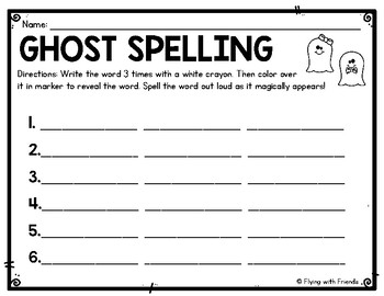 Word Work for ANY list: Print & Go Practice!