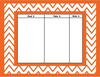 Word Work Printables