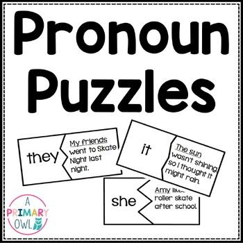 Word Work: Pronoun Puzzles