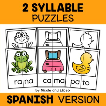 Spanish Word Work Puzzles Bundle 1