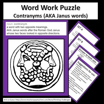 Word Work Puzzles : Contragrams