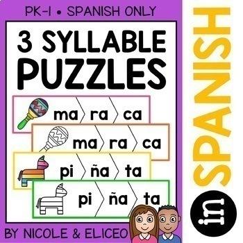 Word Work Puzzles - Spanish Bundle 2