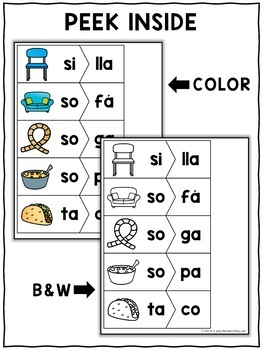 Spanish Syllable Activity Puzzles 2