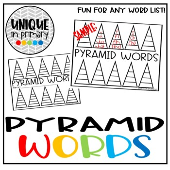 Word Work: Pyramid Words