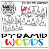Word Work: Pyramid Words