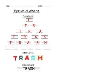 Word Work- Pyramid Words