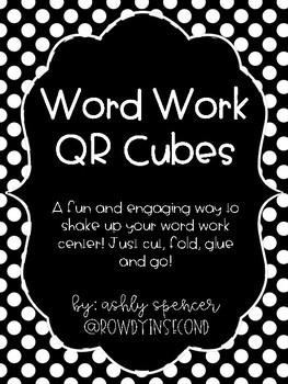 Word Work QR Cube