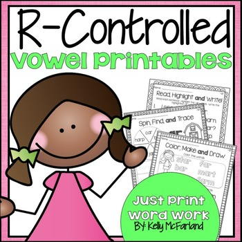 Word Work {R-Controlled Vowel Printables}