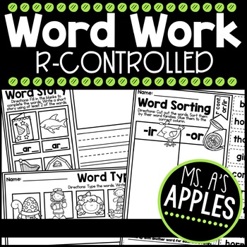 Word Work R Controlled Vowels