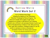 Word Work Rainbow Words-Benchmark Series Sight Words