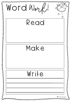 Word Work Read Make Write