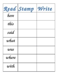 Word Work - Read, Stamp, Write!