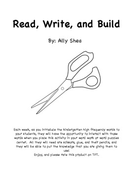 Word Work-Read, Write, and Build