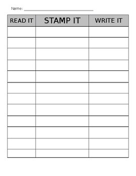 Word Work - Read it, Stamp it, Write it! (editable)