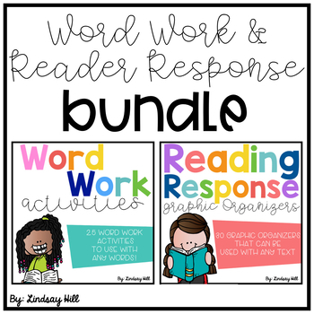 Word Work & Reading Response BUNDLE