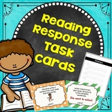 Reading Response Task Cards For Any Book  1st and 2nd Grades