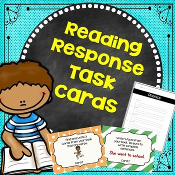 Word Work – Reading Response Task Cards~ First and Second Grades