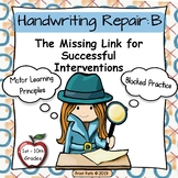 Occupational Therapy Tools for Blocked Handwriting Interventions