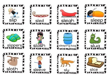Word Work:  S Blends (st and sl)