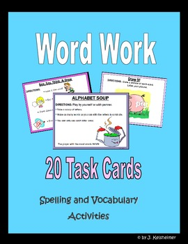 Word Work Task Cards (First Edition)