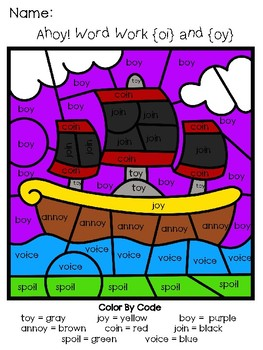Word Work: oi and oy