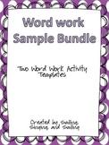 Word Work Sample Bundle