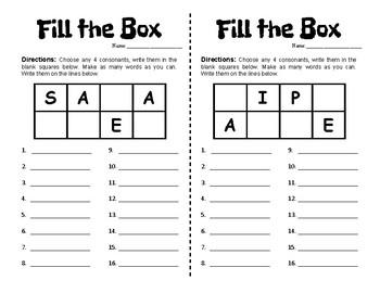 Word Work Sampler - Half Pages - Pre-Made