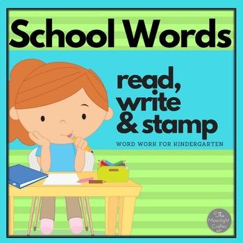 Word Work School Themed Bundle