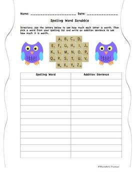 Word Work Scrabble