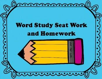 Word Work Seat Work and Homework