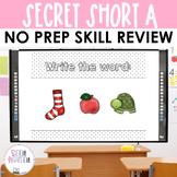 Word Work Secret Short A CVC Interactive Powerpoint Freebi