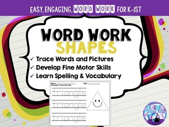Word Work-Shapes