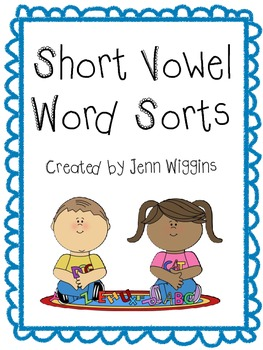 Short Vowel 4-Way Sort Pack