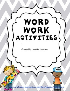 Word Work Short Vowel Activities