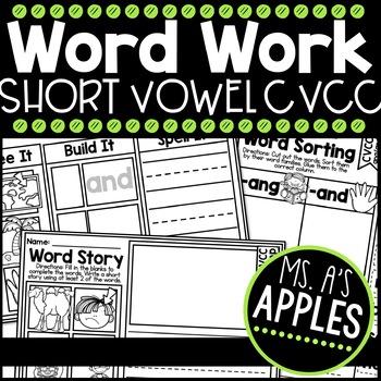 Word Work; Short Vowel CVCC
