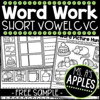 Word Work; Short Vowel [Free Sample]