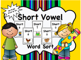 Word Work-Short Vowel Word Sort- NO PREP